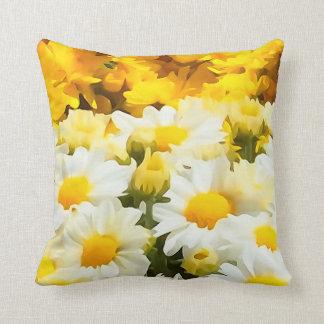 Travesseiro decorativo da flor da margarida branca almofada