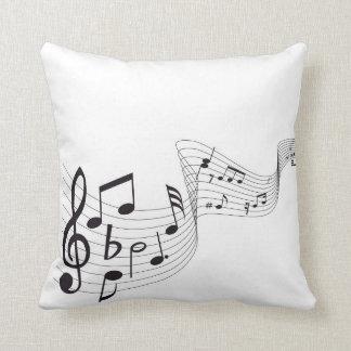 Travesseiro decorativo da nota musical