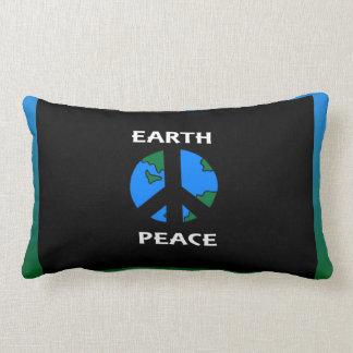 Travesseiro decorativo da paz da terra almofada lombar