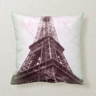 Travesseiro decorativo da torre Eiffel em verde e Almofada