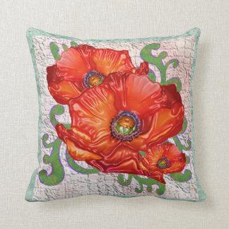 Travesseiro decorativo das papoilas orientais almofada