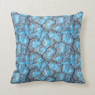 Travesseiro decorativo das rochas azuis almofada