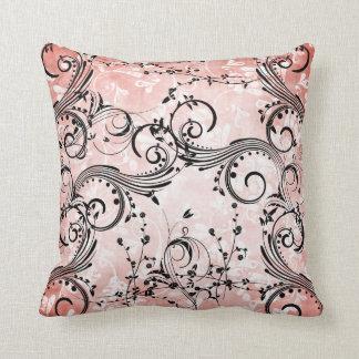 Travesseiro decorativo das videiras da flor de almofada