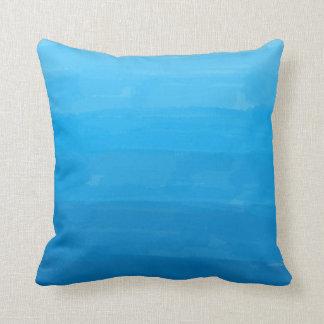 Travesseiro decorativo de Ombre do azul de oceano Almofada