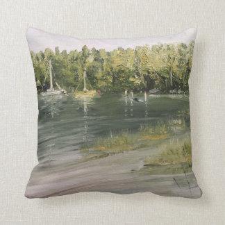 travesseiro decorativo do algodão 16 x 16 - dois almofada