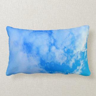 travesseiro decorativo do algodão do céu azul, almofada lombar