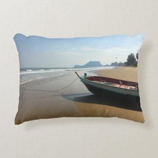 Travesseiro decorativo do barco da ilha almofada decorativa
