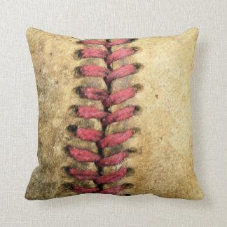 Travesseiro decorativo do basebol do vintage almofada