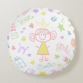 Travesseiro decorativo do berçário para o bebé, almofada redonda