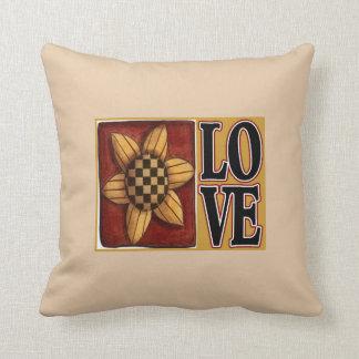 Travesseiro decorativo do país do amor do girassol almofada