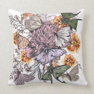 Travesseiro decorativo do poliéster da borboleta, almofada