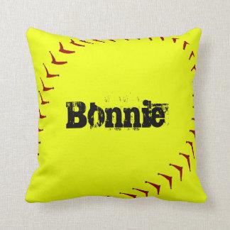 Travesseiro decorativo do softball de Fastpitch