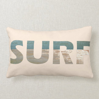 Travesseiro decorativo do surf das ondas da praia almofada lombar