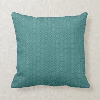 Travesseiro decorativo esverdeado azulado do verde