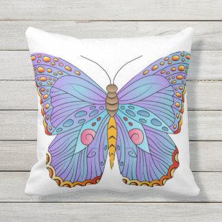 Travesseiro decorativo exterior da borboleta almofada para ambientes externos