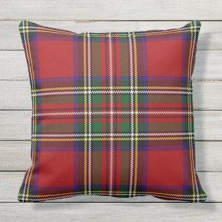 Travesseiro decorativo exterior do design vermelho almofada para ambientes externos