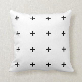 Travesseiro decorativo geométrico branco & preto