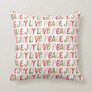 Travesseiro decorativo indicado por letras do almofada