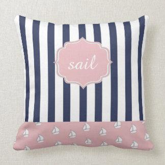 travesseiro decorativo náutico feminino almofada