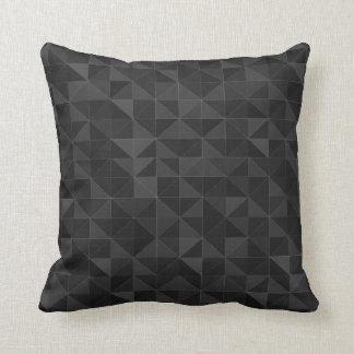 Travesseiro decorativo preto gráfico do teste almofada