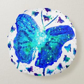 Travesseiro decorativo redondo da borboleta almofada redonda