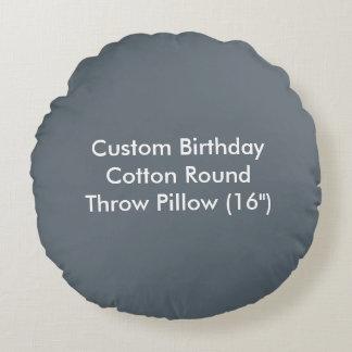 Travesseiro decorativo redondo do algodão feito almofada redonda