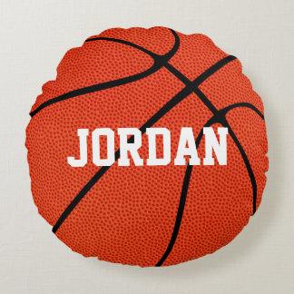 Travesseiro decorativo redondo do basquetebol almofada redonda