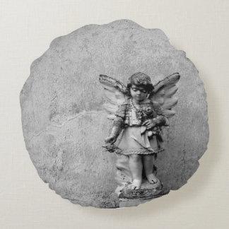 Travesseiro decorativo redondo estatuário do anjo almofada redonda