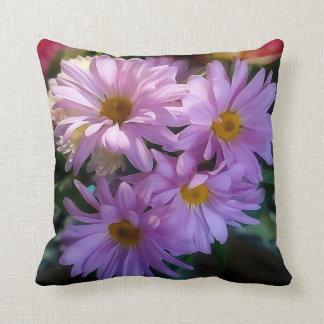 Travesseiro decorativo roxo da flor da margarida almofada