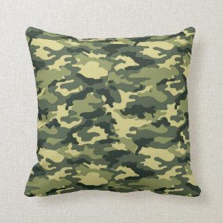Travesseiro decorativo verde do teste padrão da almofada