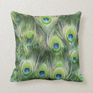Travesseiro decorativo verde e azul do animal da almofada