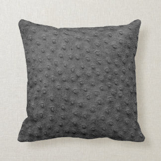 Travesseiro desproporcionado cinzento da grão do almofada