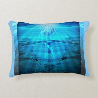 Travesseiro do acento da âncora - azul almofada decorativa