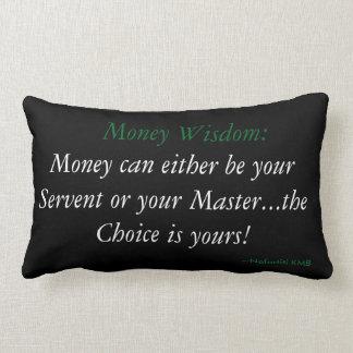 Travesseiro do acento da sabedoria do dinheiro almofada lombar