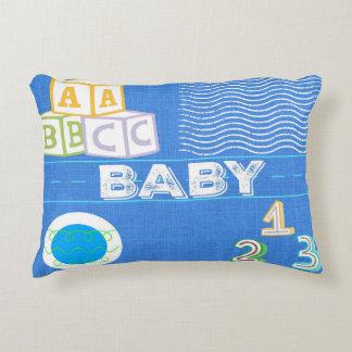 Travesseiro do acento do bebê dos miúdos - azul almofada decorativa