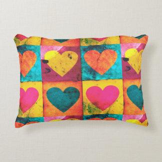Travesseiro do acento do coração do pop art almofada decorativa