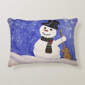 Travesseiro do acento do Natal do boneco de neve Almofada Decorativa