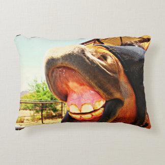 """Travesseiro do amante do cavalo do """"sorriso"""" almofada decorativa"""