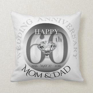 Travesseiro do aniversário de casamento do almofada
