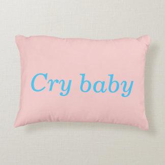 travesseiro do bebê do grito almofada decorativa