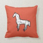 Travesseiro do cavalo de Origami
