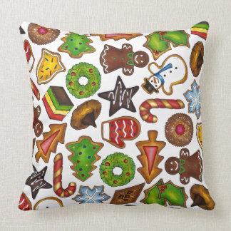 Travesseiro do cozimento do feriado dos biscoitos almofada