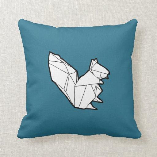 Travesseiro do esquilo de Origami
