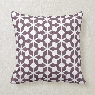 Travesseiro do estilo dos anos 60 da beringela almofada