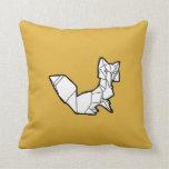 Travesseiro do Fox de Origami