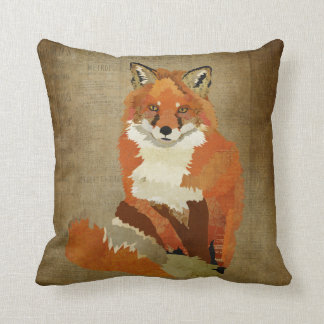 Travesseiro do Fox vermelho do vintage