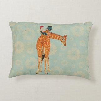 Travesseiro do girafa & do galo almofada decorativa