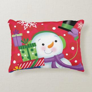 Travesseiro do Natal do boneco de neve Almofada Decorativa