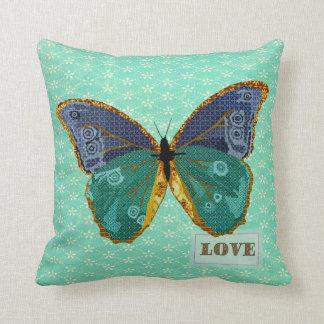 Travesseiro do ouro do amor da borboleta de Boho,