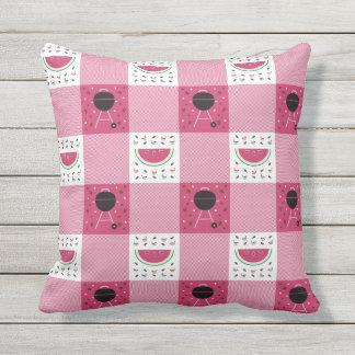 Travesseiro do piquenique do verão almofada